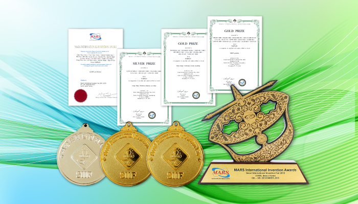 Grape King's  Patent won 2 Gold, 1 Silver and 1 Special Award at Seoul Inventional Invention Fair 2018