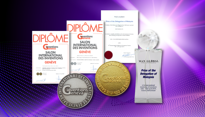 Probiotics and Heicium Patent won 1 Gold Madel,1 Silver Medal and 1 Special Prize at the 2019 Geneva International Invention Exhibition.